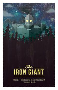 BROTHERTEDD.COM - pixalry: The Iron Giant- Created by Andrew Sale Great Films, Good Movies, Laika Studios, Badass Movie, The Iron Giant, Arte Robot, Alternative Movie Posters, Cartoon Movies, Cultura Pop