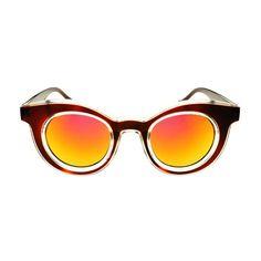 Unique Designer Style Mirror Lens Round Sunglasses Shades R2200