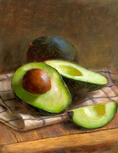 I recently fell in love with avocado, and now I can't get enough of this amazing SUPER FRUIT (yes, avocado is a FRUIT!) Avocados by Robert Papp - Avocados Painting - Avocados Fine Art Prints and Posters for Sale Still Life Drawing, Still Life Oil Painting, Mago Tattoo, Avocado Art, Still Life Fruit, Fruit Painting, Painting Flowers, Realistic Paintings, Abstract Paintings