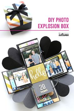 How to make an Explosion Box {cheap, unique DIY gift idea!} - It's Always Autumn Learn how to make this cool DIY explosion box. Perfect gift for Mother's Day, Father's Day, or an anniversary. Craft Gifts, Diy Gifts, Handmade Gifts, Cute Gifts, Explosion Box, Cadeau Surprise, Diy Cadeau, Exploding Boxes, Inexpensive Gift