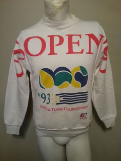 Vintage 90's US Open 1993 Official Tennis Champions Crew
