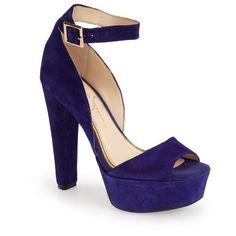 "Jessica Simpson 'Athens' Ankle Strap Platform Sandal, 5"" heel ($98) ❤ liked on Polyvore"
