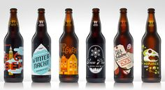 """The third installment of """"30 Beers for 30 Years"""" from Widmer Brothers Brewing captures the years 1996-2001. Each label was created by a local Portland, OR designer."""