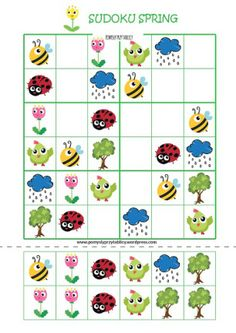 sudoku-spring Writing Practice Worksheets, 1st Grade Math Worksheets, Math Workbook, Coding For Kids, Math For Kids, Puzzles For Kids, Preschool Science, Kindergarten Activities, Crossword Puzzle Books