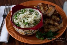 Creamy Lemon Parmesan Risotto with Baby Peas