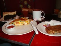 a cafe in Wellington.. great bacon and egg pie, with rich chocolate moccha cake