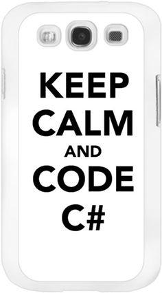 Keep calm and code c# s3 kilif Kendin Tasarla - Samsung Galaxy S3 Kılıfları