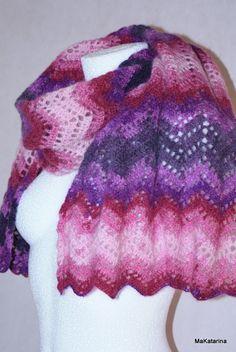 Crochet shawl mohair acrylic shawl lace crochet by MaKatarina