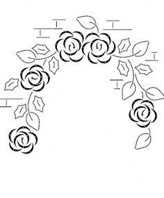 hobbydots patroon - muur met bloemen