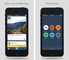 Tumblr Overhauls Its iOS App with New Design and Features   Yahoo-acquired Tumblr has launched an update to its iOS app, giving the app a visual overhaul and adding a load of new features.... Read more at: http://www.topapps.net/apple-ios/tumblr-overhauls-its-ios-app-with-new-design-and-features.html/