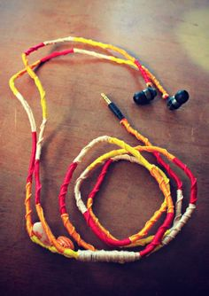DIY gypsy wrapped earbuds (inspiration)