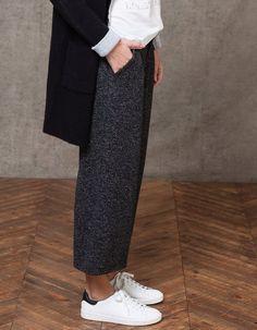 Ζακάρ παντελόνι τύπου culotte - ΕΝΔΥΣΗ - Γυναικείες | Stradivarius Greek