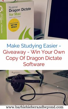 Making Studying Easier With - Dragon Software, a chance to win your own copy for the student in your lives! Parenting Articles, Parenting Hacks, Dragon Software, Blog Tips, Studying, Giveaways, Barbie, Technology, Feelings