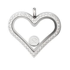 PIPPA&JEAN dreamees - Medaillon GLAM HEART (silver)