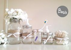 Rustic Mason Jars, Bathroom decor, Home decor, Housewares, Rustic home decor, Gift set, Housewarming Gift, Soap dispenser on Etsy, $33.00