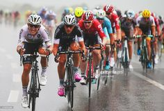 Michal Kwiatkowski of Poland and Etixx-Quick Step (L) rides through the rain with the peloton during stage two of the 2015 Tour de France, a 166km stage between Utrecht and Zelande, on July 5, 2015 in Zelande, Netherlands. #TDF2015 #rm_112