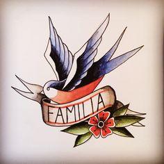 Sábado ✏️ #tradicionaldraw #tradicionalamericano #golondrinatradi #instadraw #instatraditional #watercolor #watercolorpainting #acuarela