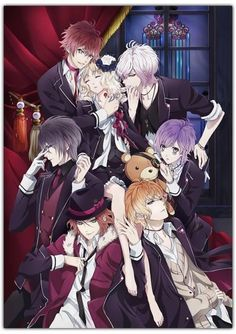 Diabolik Lovers. Imposible no enamorarse de los hermanos❤️