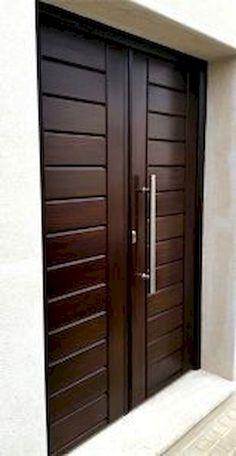 Artistic Wooden Door Design Ideas To Try Right Now 13 Mark Márquez tiene 24 años Wooden Double Doors, Wooden Front Door Design, Modern Wooden Doors, Double Door Design, Wooden Front Doors, Modern Door, Modern Entrance Door, Main Entrance Door Design, Entrance Doors