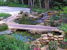 The homeowners wanted their landscape to fit in gracefully with the designated wilderness area next door. What could be more natural than a pool and waterfall to mark the path that is visible from inside the home?