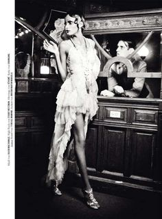 Roaring 20s Editorials - Tush Magazine's Adore Me Spread Seems to Take Place in a Racy Brothel (GALLERY)