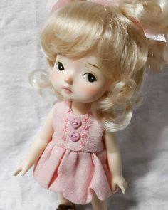 """좋아요 5개, 댓글 3개 - Instagram의 mini(@petite_jiwoo)님: """"#doll #dollstagram #toy #arttoy #tiny #handmade #painting #sculpture #instadoll #육일돌"""""""