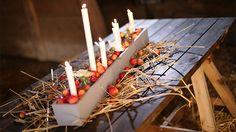 Mysigt att göra egna ljuslådor till jul. Jul med Ernst 2015.