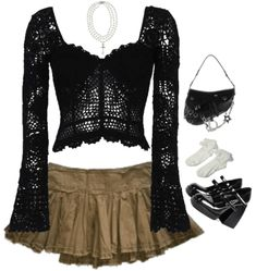 Pretty Outfits, Cool Outfits, Fashion Outfits, Aesthetic Fashion, Aesthetic Clothes, Fairy Clothes, 2000s Fashion, Alternative Outfits, Grunge Outfits