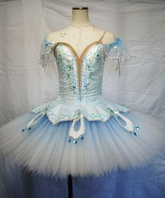 The beading in blue. www.theworlddances.com/ #costumes #tutu #dance