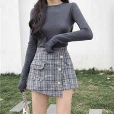 The Best Examples for Korean Street Fashion Ulzzang Fashion, Asian Fashion, Look Fashion, Girl Fashion, Fashion Outfits, Rock Outfits, Club Outfits, Trendy Outfits, Fall Outfits