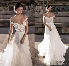 Vintage Lace Bohemian Wedding Dresses 2018 Summer Beach Backless Off The Shoulder Berta Bridal Gowns Cheap Wedding Reception Dress Wedding Dress Lace Wedding Gowns Lace Bridal Gowns Online with $158.86/Piece on Kissbridal001's Store | DHgate.com
