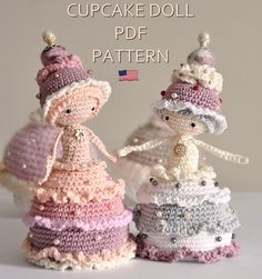 Cupcake doll - ENGLISH PDF digital crochet pattern - crochet amigurumi by LittleInspiringSoul on Etsy https://www.etsy.com/listing/275191178/cupcake-doll-english-pdf-digital-crochet