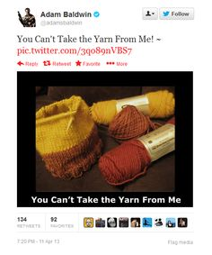 You can't take the yarn from me.