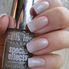 French Manicure Gradient + Glitter Top Coat | Kate's Mani. Shared via sharexy.com plugin