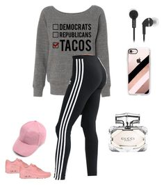 """""""Bez naslova #7"""" by semiragoletic ❤ liked on Polyvore featuring adidas, NIKE, Casetify and Gucci"""