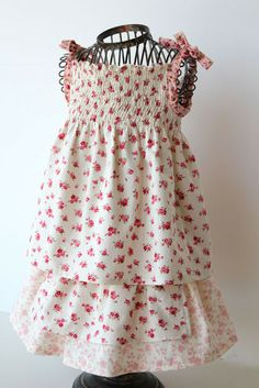 {sewing, crafts, party inspiration}: Simple Shirred Top (a tutorial) sooo adorable. i'd wear it in my size Girls Dresses Sewing, Sewing Kids Clothes, Sewing For Kids, Baby Sewing, Diy Clothes, Cute Summer Dresses, Little Girl Dresses, Cute Outfits For Kids, Diy For Girls