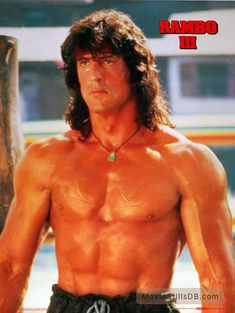 An awesome poster of Hollywood Heavyweight Sylvester Stallone as John J Rambo in the installment of the Rambo film franchise! Action Movie Stars, Action Movies, Silvestre Stallone, Sylvester Stallone Rambo, Rambo 3, Stallone Movies, Stallone Rocky, Best Muscle Building Supplements, Film Images