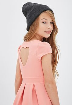 cute heart cut out dress  -pale pink - tween fashion - tween clothing