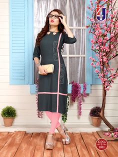 New Kurti Designs, Simple Kurti Designs, Stylish Dress Designs, Salwar Designs, Kurti Designs Party Wear, Saree Blouse Designs, Stylish Dresses, Plain Kurti Designs, Kurti Sleeves Design