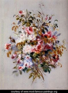 A Bouquet Of Roses - Pierre Auguste Renoir - www.most-famous-paintings.org
