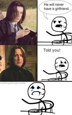 cereal guy professor snape