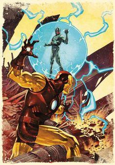 Ultron vs. Homem de Ferro.