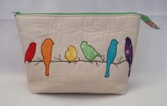 SWEET POUCH SWAP - bird pouch front | Flickr - Photo Sharing!
