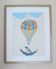 On the Move 3 Colour A3 Screen Print From Boodle