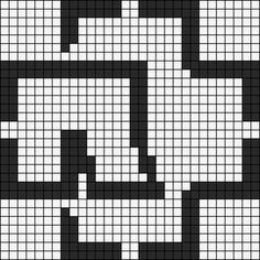 Alpha friendship bracelet pattern added by Ramm-stein. rammstein r logo metal germany. Hama Beads, Perler Bead Art, Alpha Patterns, Canvas Patterns, Knitting Charts, Knitting Patterns, Metal Band Logos, Pixel Art Templates, Till Lindemann