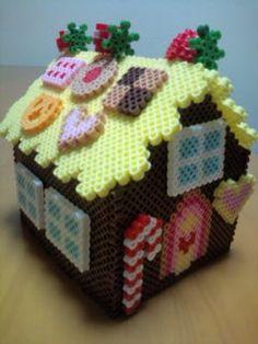 3D Gingerbread house perler beads