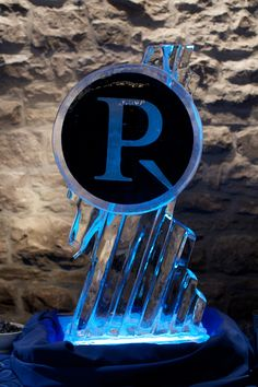 Ice sculpture for the Perley-Robertson anniversary party made quite a splash.