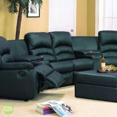 Charming High Back Leather Sectional Sofas