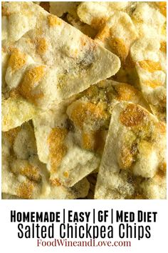 Easy Salted Chickpea Chips - Food Wine and Love Cooking Garbanzo Beans, Garbanzo Bean Flour, Easy Healthy Breakfast, Healthy Snacks, Healthy Recipes, Med Diet, Parchment Paper Baking, Homemade Crackers, Diet Dinner Recipes