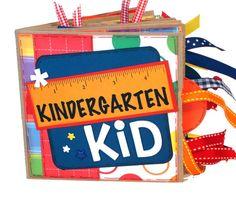 Kindergarten Paper Bag Scrapbook by apicketfencelife on Etsy